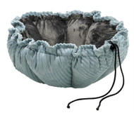 Blue Bayou & Grey Microvelvet Buttercup Dog Bed