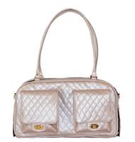 Marlee Petal Pink Quilted Dog Bag