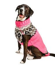 Bubblegum Fairisle Wool Dog Sweater