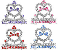 Tiara Rhinestone Dog Hair Barrette