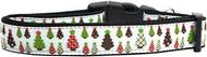 Designer Christmas Trees Dog Collar