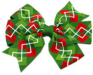 Christmas Argyle Bow
