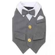 Kelsey Grey Dog Tuxedo Vest