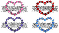 Heart Rhinestone Dog Barrette