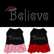 Believe Rhinestone Dog Dress