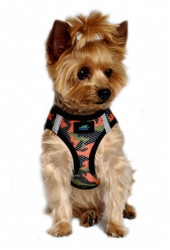 Orange Camo American River Choke Free Dog Harness