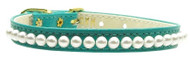 Pearl Dog Collar- Turquoise