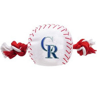 Colorado Rockies Nylon Baseball Rope Dog Toy