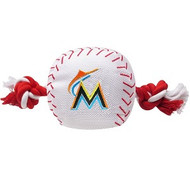 Miami Marlins Nylon Baseball Rope Dog Toy