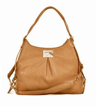 Zoie Mia Michele Caramel Macciato Faux Pebble Leather Carry Dog Bag