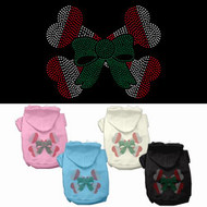 Candy Cane Crossbones Dog Hoodie