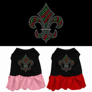 Christmas Fleur De Lis Dog Dress