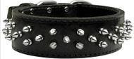 Brutus Leather Dog Collar- Black