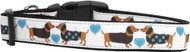 Doxie Love Nylon Ribbon Dog Collar