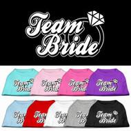 Team Bride Dog Shirt