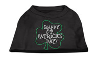 Happy St. Patrick's Day Rhinestone Dog Shirt- Many Colors