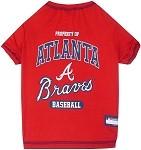 Atlanta Braves Baseball Dog Shirt