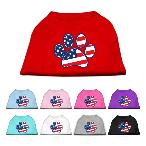 Patriotic Paw Dog Shirt
