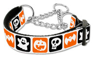 Halloween Nylon Ribbon Dog Collar - Martingale