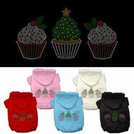 Christmas Cupcakes Dog Hoodie