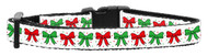 Christmas Bows Dog Collar