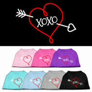 XOXO Heart Dog T-Shirt