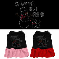 Snowman's Best Friend Dog Dress