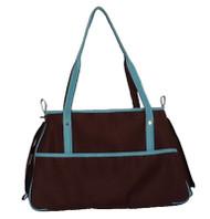 Petote Charlie Chocolate Brown and Blue Dog Bag