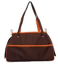 Petote Charlie Chocolate Brown and Orange Dog Bag
