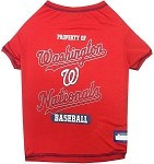 Washington Nationals Baseball Dog Shirt
