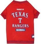 Texas Rangers Baseball Dog Shirt