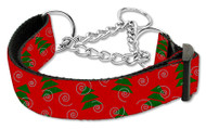 Christmas Tree Martingale Dog Collar