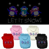 Let It Snow Penquins Dog Hoodie
