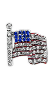 Flag Slider Charm for Dog Collar, 3/8""