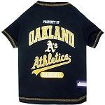 Oakland Athletics Baseball Dog Shirt