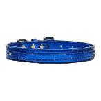 10mm Blue Metallic Two Tier Dog Collar
