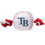 Tampa Bay Rays Baseball Rope Dog Toy