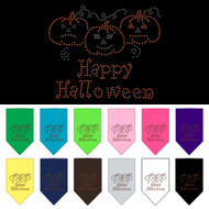 Happy Halloween Rhinestone Dog Bandana-Choose Your Color!