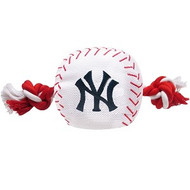 New York Yankees Baseball Rope Dog Toy