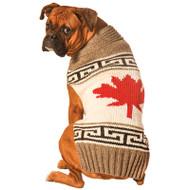 Maple Leaf Dog Sweater