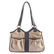 METRO 2 Tan with Black Trim Dog Bag