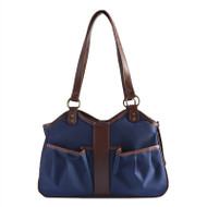 METRO 2 Navy with Tan Trim Dog Bag