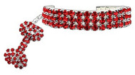 Red Glamour Bits Dog Jewelry