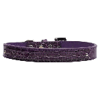 10mm Two Tier Purple Faux Croc Dog Collar