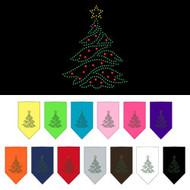 Christmas Tree Rhinestone Dog Bandana