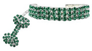 Green Glamour Bits Dog Jewelry
