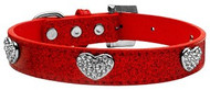 Red Crystal Heart Ice Cream Dog Collar