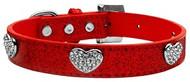 Red Crystal Heart Ice Cream Dog Collar