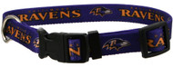 Nylon Baltimore Ravens Dog Collar