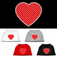 Red Polka Dot Heart Dog Shirt